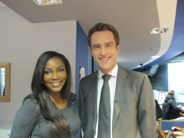 Genevieve Nnaji with CNN Connect the World anchor - Max Foster