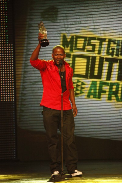 PRO receives his award for Most Gifted Southern Video