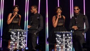 Genevieve & D'Banj on stage