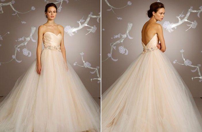 Stunning Wedding Dresses In Beige And Blush: Mercy Johnson & Stephanie