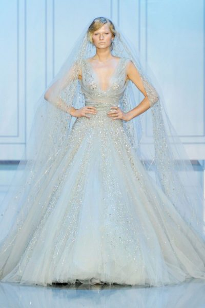 Elie Saab Couture Bride in Blue