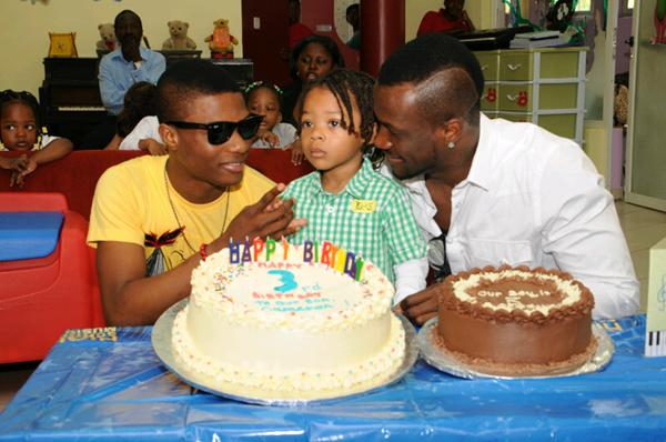 With Dad Peter Okoye of P-Square & Wizkid