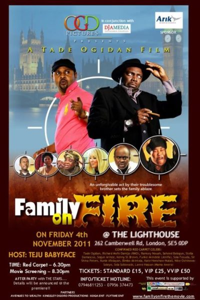 Tade Ogidan Family on Fire