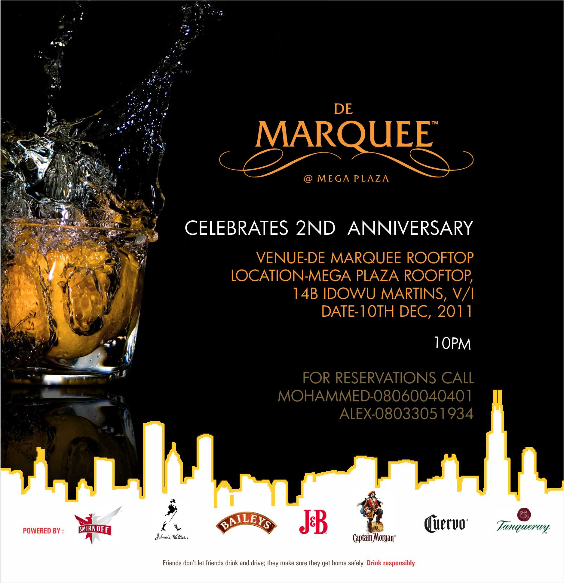 De Marquee Is 2 Be Part Of The 2nd Year Anniversary