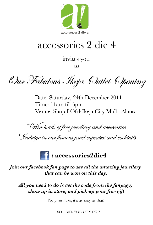 Accessories2die4 unveils christmas campaign shots celebrates the accessories2die4 unveils christmas campaign shots celebrates the grand opening of their new store at the ikeja mall stopboris Choice Image