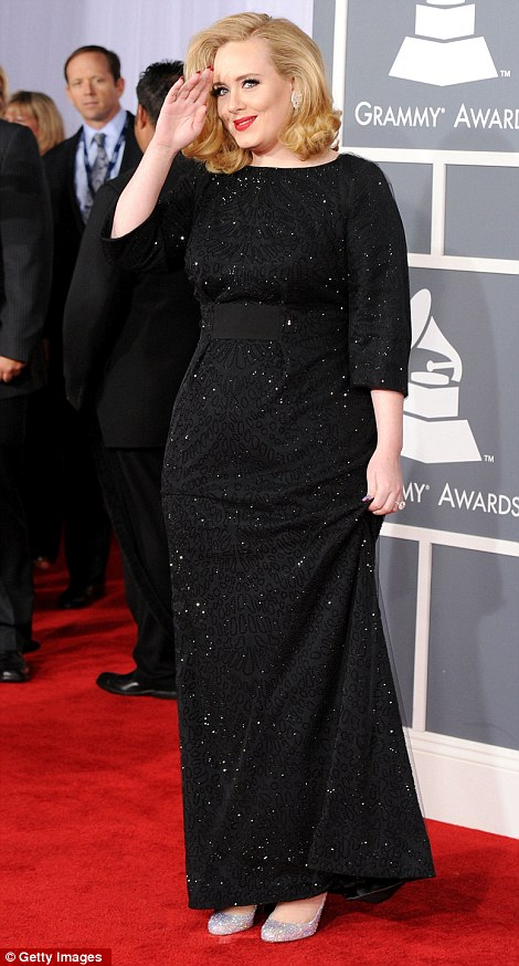 Adele in her glam gown