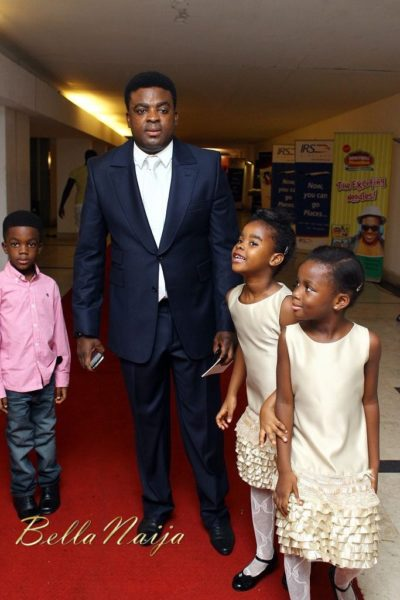 Kunle Afolayan (with his super cute special guests)