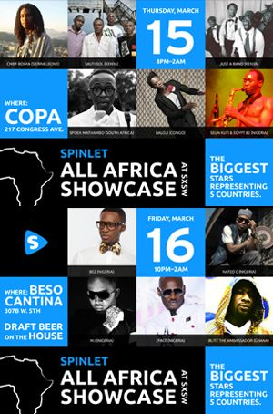 Spinlet All Africa Showcase