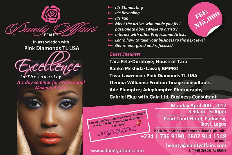 Dainty Affairs Beauty Amp Pink Diamonds Present Quot Excellence In The Industry Quot A Seminar For
