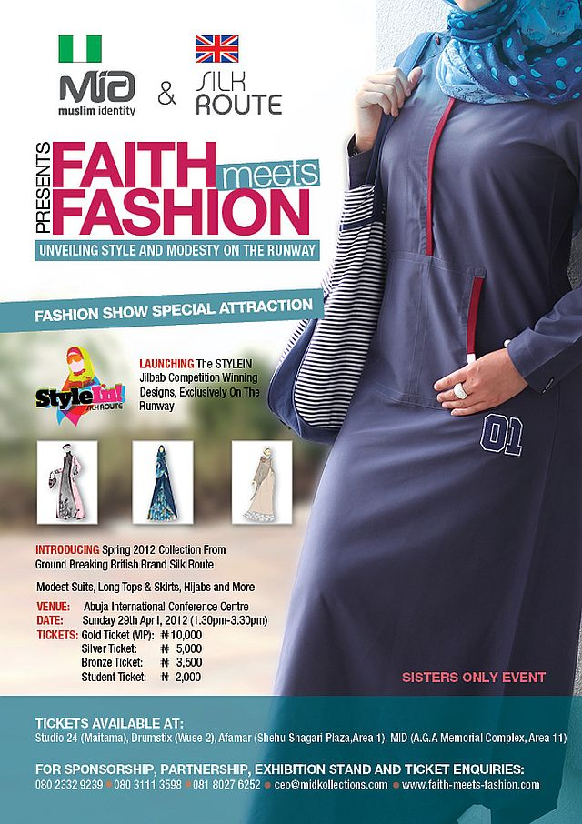 Mid Silk Route Present Faith Meets Fashion An Event To Celebrate Women In Islam With Fashion Presentations By Top Islamic Designers Bellanaija