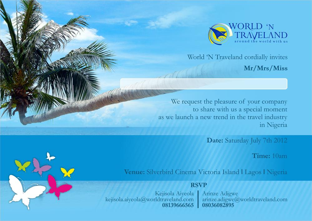 Creating an Easier Way to Travel Nigerian Leisure Experts World – Launching Invitation Card
