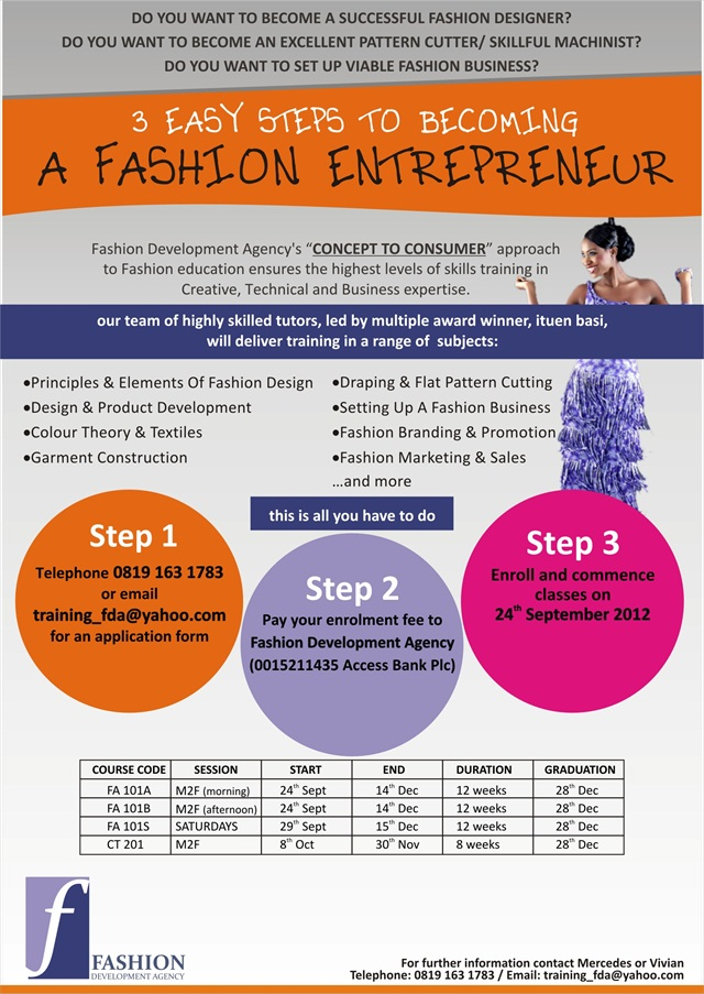 Fashion Development Agency Presents Its End Of The Year Training Session With Acclaimed Nigerian Fashion Designer Ituen Basi Bellanaija