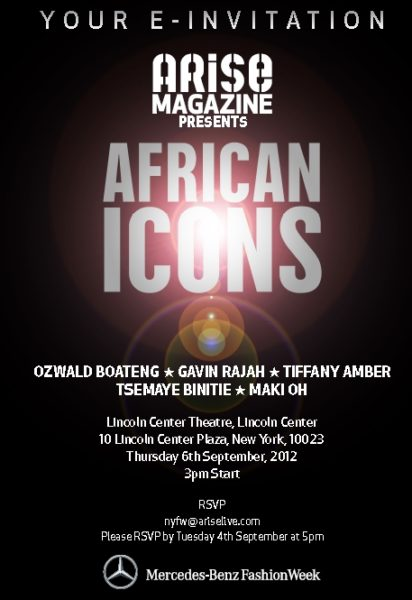 Arise African Icons Flier