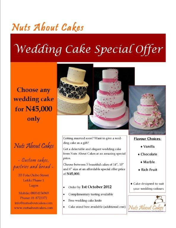 Nuts About Cakes Wedding Cake Special Offer