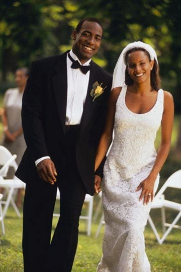 african-american-couple-wedding-1 garden