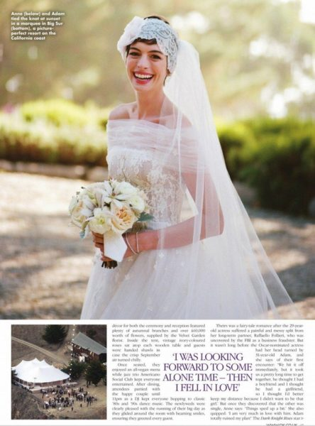 Princess Anne Wedding Dress Pictures : Hollywood princess anne hathaway adam shulman s wedding all the
