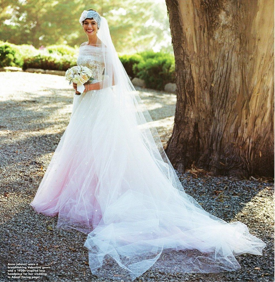 Anne Hathaway Wedding Valentino November 2012 BellaNaija013 Most Beautiful Celebrity Wedding Dresses