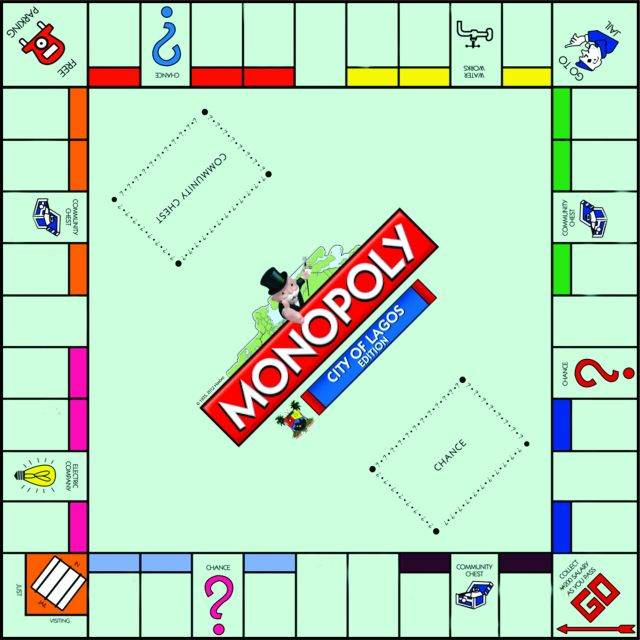 The city of lagos edition of monopoly is here bestman for Custom monopoly board template