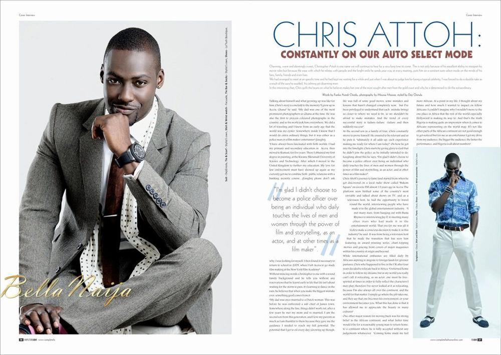 Tr S Bien Supermodel Agbani Darego Is Gorgeous Tv Star Chris Attoh Is Dapper On The Cover Of