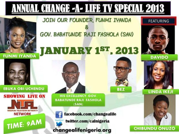 Funmi Iyanda Change A Life Annual TV show 2013 Poster