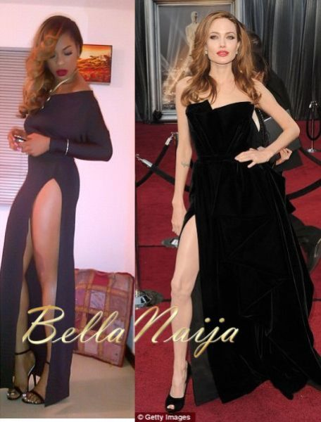 Yvonne Nwosu Vonne Angelina Jolie Black Ball BellaNaija