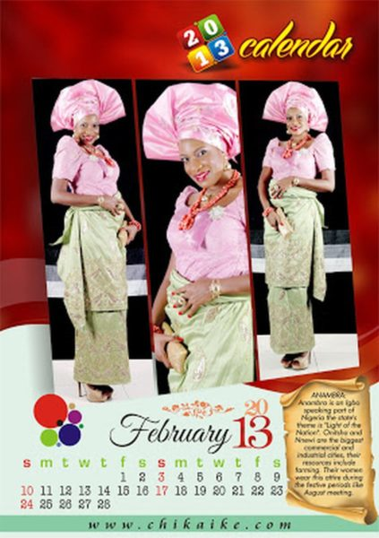 Chika Ike 2013 Calendar  - January 2013 - BellaNaija003