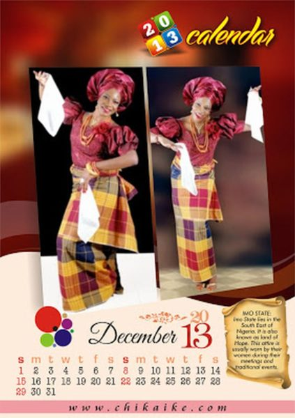 Chika Ike 2013 Calendar  - January 2013 - BellaNaija021