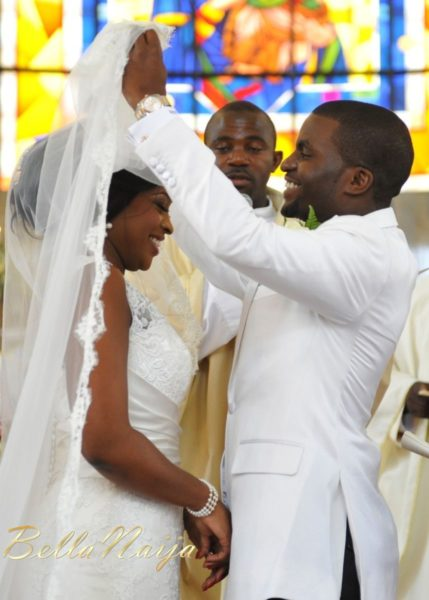 Faith Arigbe & Kenny Umenyi White Wedding 1 - January 2013 - BellaNaija016