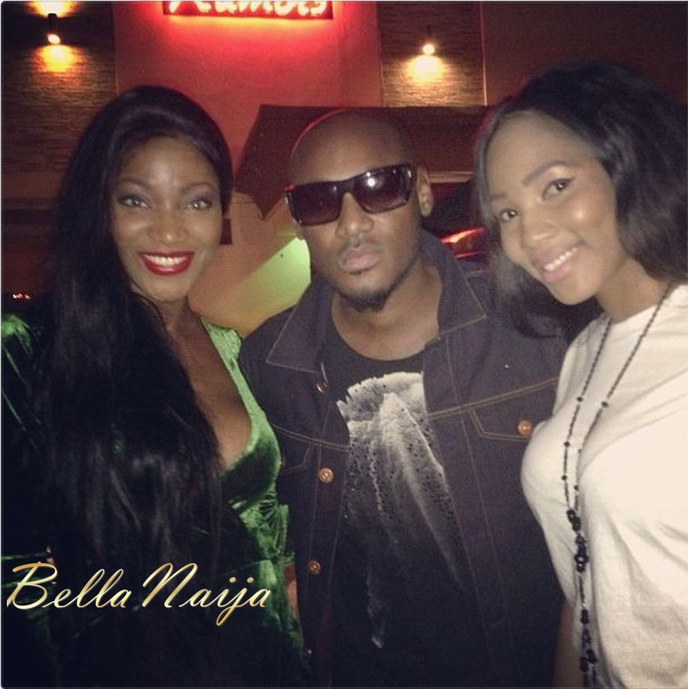 With 2Face and fellow beauty queen  Maryam Elisha