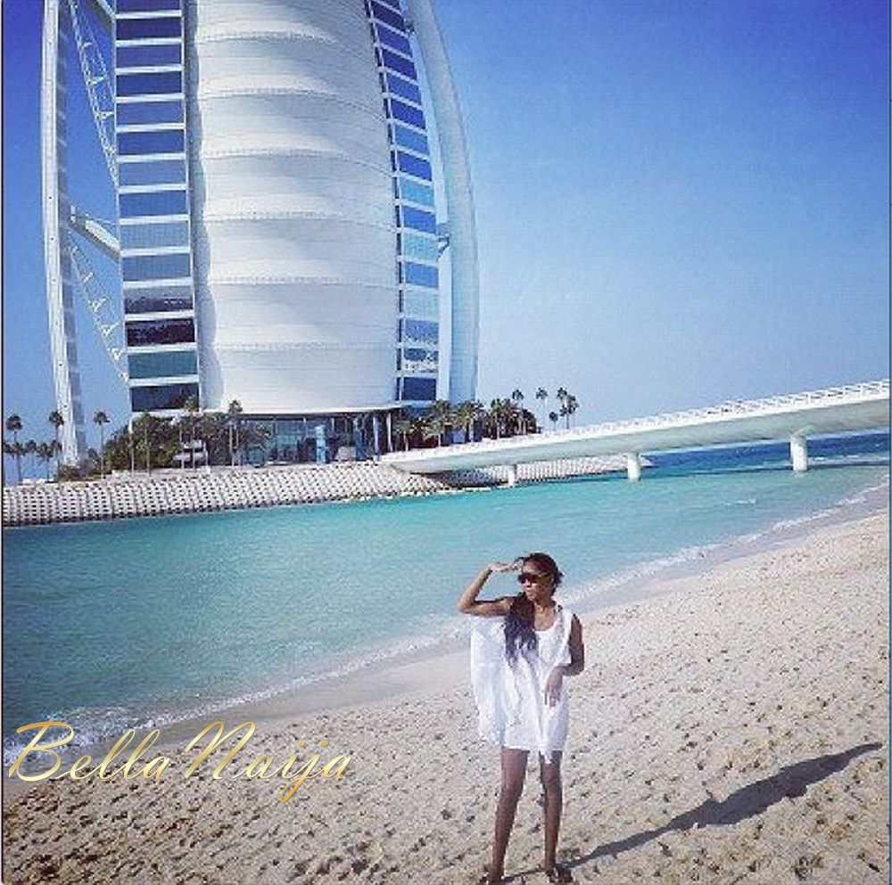 On holiday in Dubai