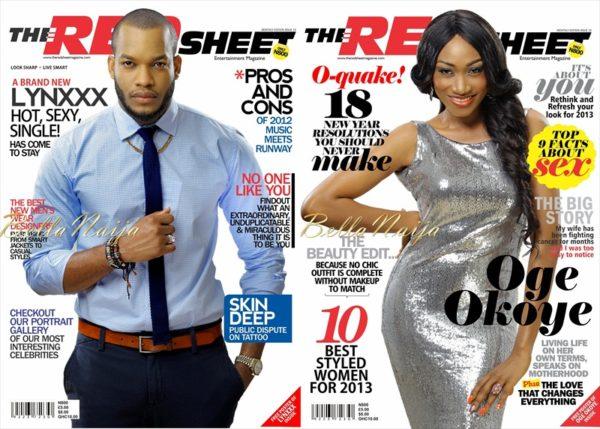 Lynxxx & Oge Okoye - The Red Sheet Magazine February Issue - January 2013 - BellaNaija