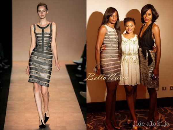 Ono Bello in Herve Leger by Max Azria