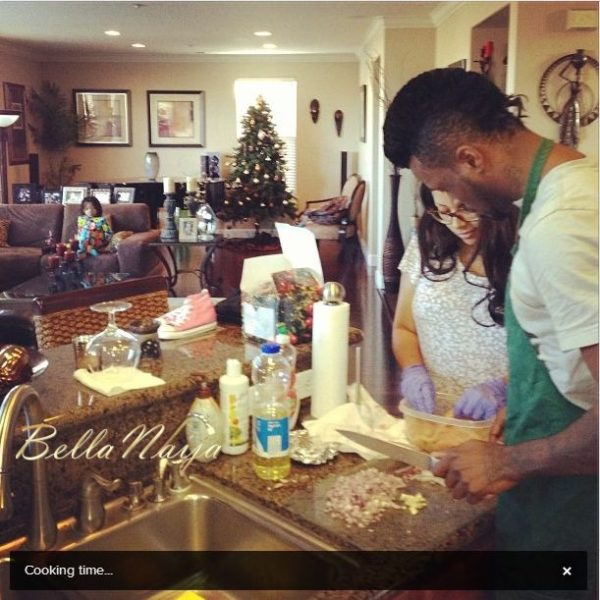 Peter Okoye Lola Omotayo PSquare Holiday - January 2013 - BellaNaija001
