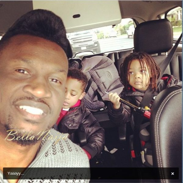 Peter Okoye Lola Omotayo PSquare Holiday - January 2013 - BellaNaija010