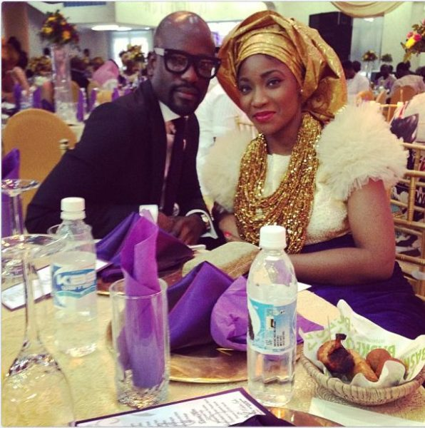 With Designer Mai Atafo at a Wedding