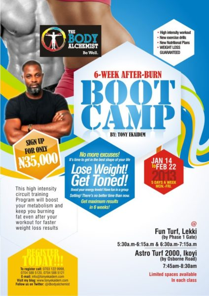 The Body Alchemist 6 Week After-Burn Boot Camp