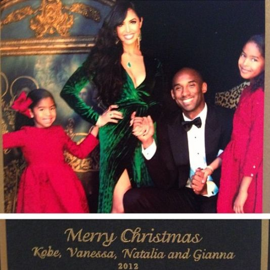 Vanessa-and-Kobe-Bryant-Christmas-Card-Shoot BellaNaija