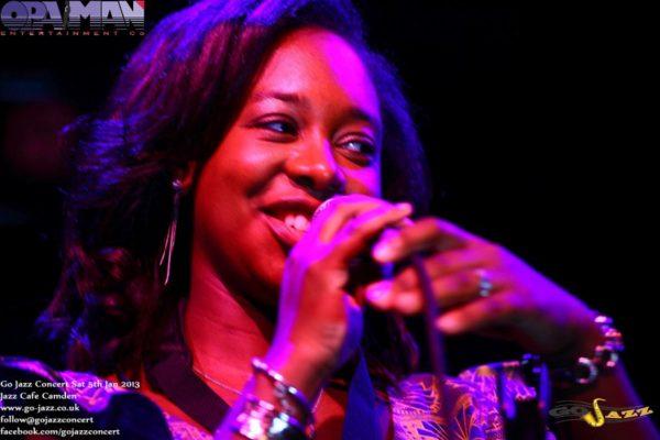 YolanDa Brown Steps on stage to perform