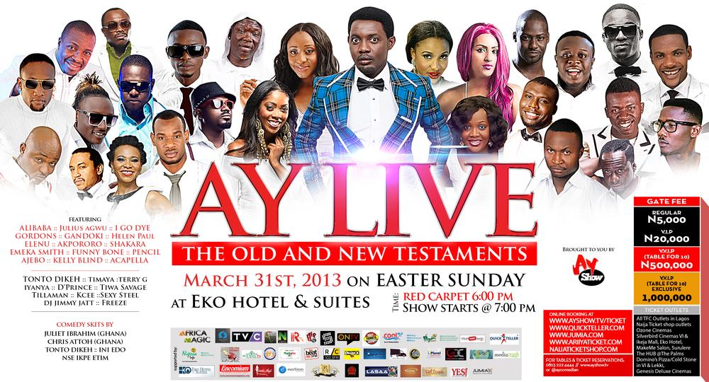 Comedian AY Live 2013 Easter Sunday Comedy Show Preview Ft
