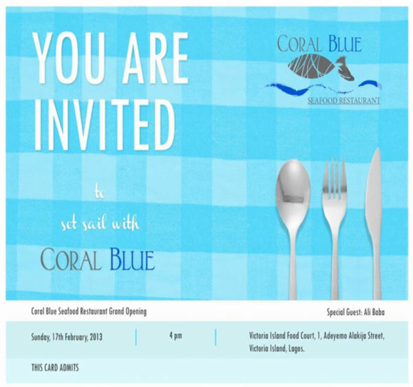Coral Blue Sea Food Restaurant