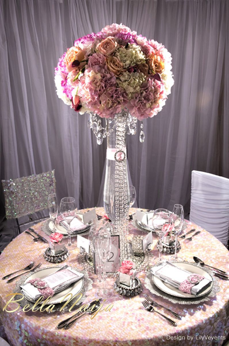 Beautiful Reception Decorations Elegant For Wedding Tables Spray Centerpiece Glass Vase With