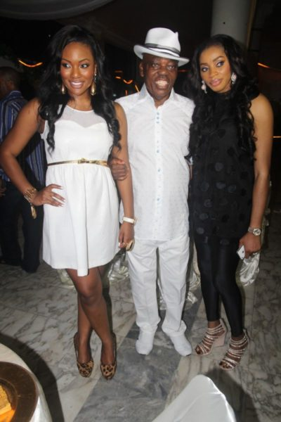 Hadiza with her dad Razaq Okoya and stepmom Shade Okoya