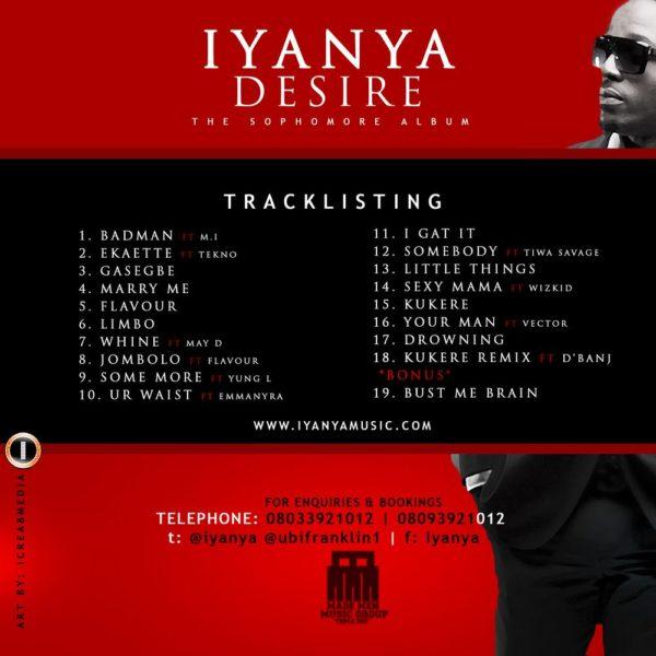 Iyanya Tracklist