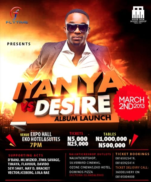 Iyanya Vs Desire Album Launch