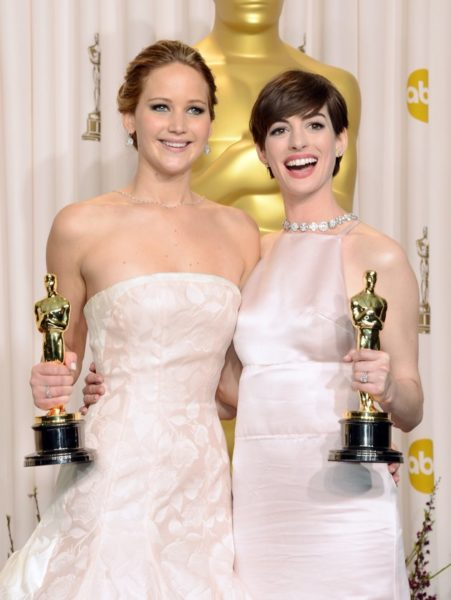 Jennifer Lawrence & Anne Hathaway