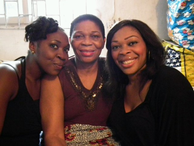 Kelechi with her mom and sister