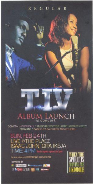 TIV Album Launch & Concert