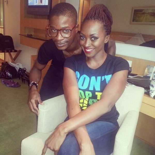 Kate Henshaw & her make-up artist