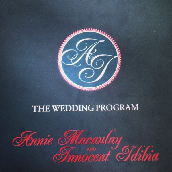 The Wedding Programme