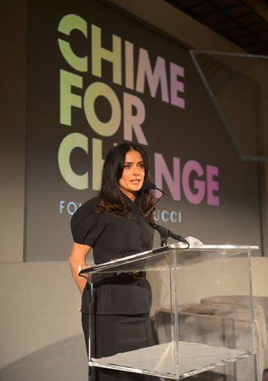 "Salma speaks on the cause and ""Chime for Change"" initiative"